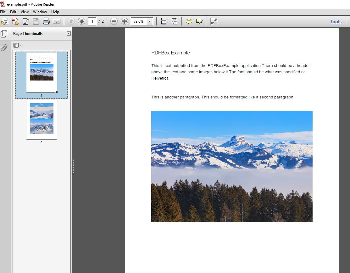 Writing Text and Images to PDF with Apache PDFBox – Amy's